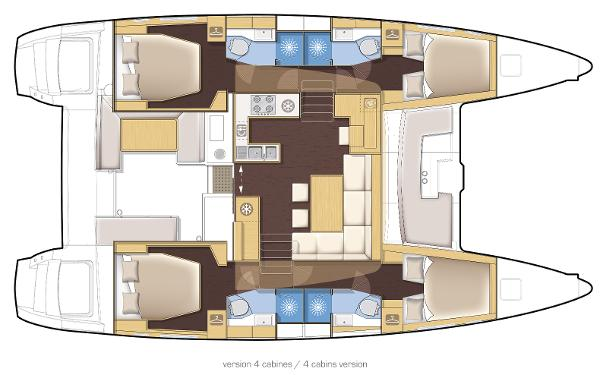 Lagoon 450 4 Cabin Layout Plan
