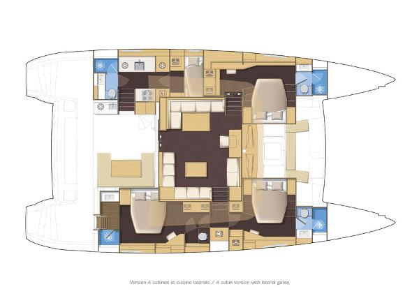 Lagoon 560 S2 Layout Plan