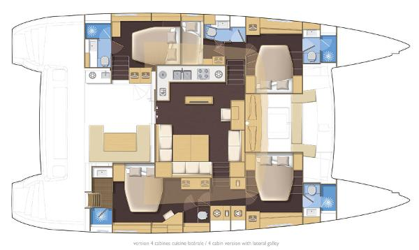 Lagoon 560 S2 5 Cabin Layout Plan
