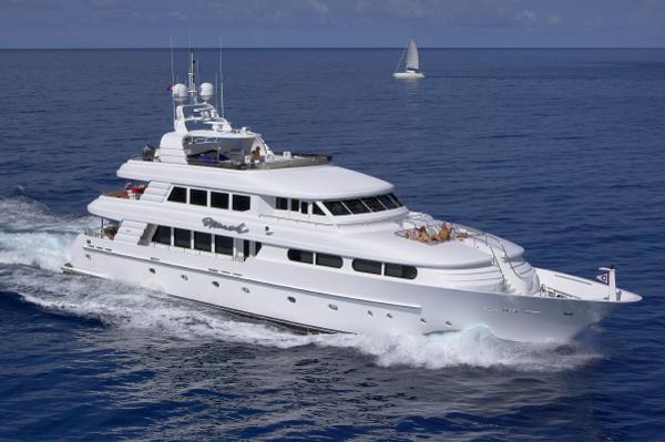Cheoy Lee Tri-deck Motor Yacht Running