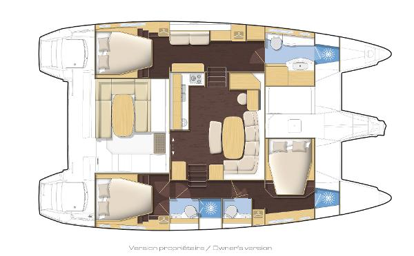 Lagoon 421 3 Cabin Layout Plan