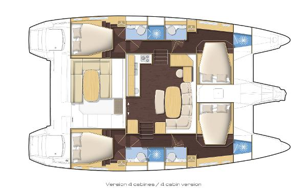 Lagoon 421 4 Cabin Layout Plan