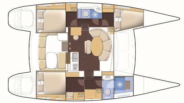 Lagoon 380 3 Cabin Layout Plan