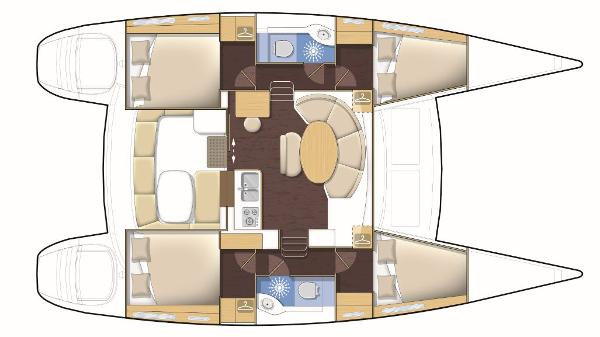 Lagoon 380 4 Cabin Layout Plan