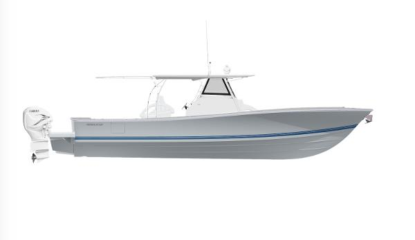 Regulator 41 2020 Regulator 41 - Storm Grey w/ Navy/Navy/Navy Boot Stripe