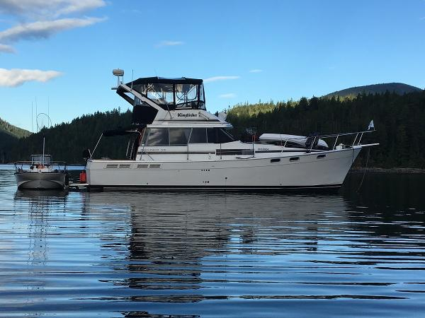 Bayliner 3888 Motoryacht At Anchor