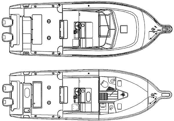 3070 - deck plan/cabin
