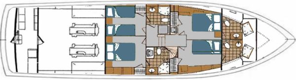 Lower Deck - 4 Staterooms