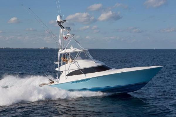 Viking 55 Convertible Starboard Side