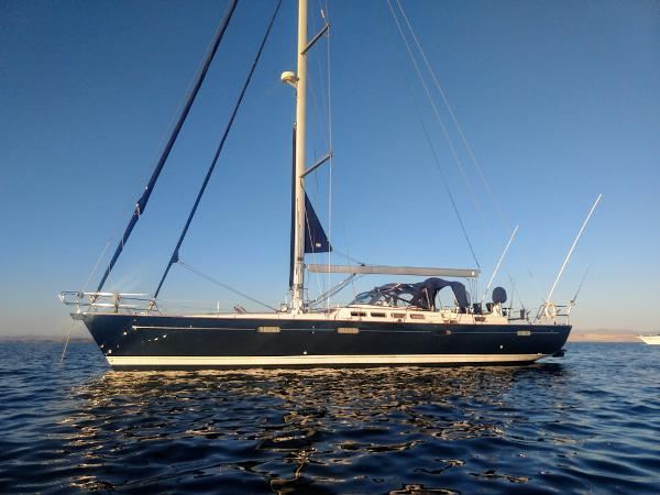Beneteau 57 At Anchor Port Side