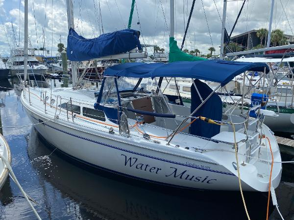 Catalina 36 MkII Water Music is in the Water and Ready to Sail.