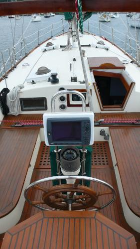 Deck from Stern and GPS on Pedestal