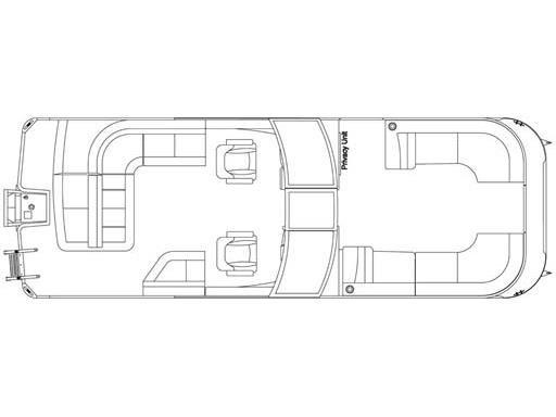 Crest Pontoon Boats Continental 250 L