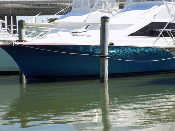 Ocean Yachts--  Cummins powered 48 Super Sport Bow   w/ new blue metallic hull paint