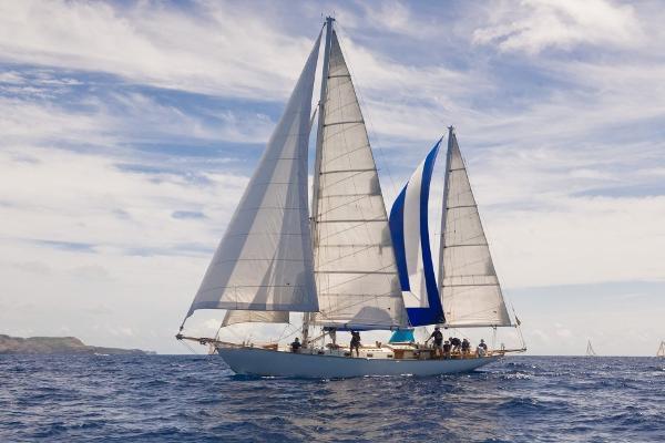 Alden Malabar Classic Ketch Desi at Sail