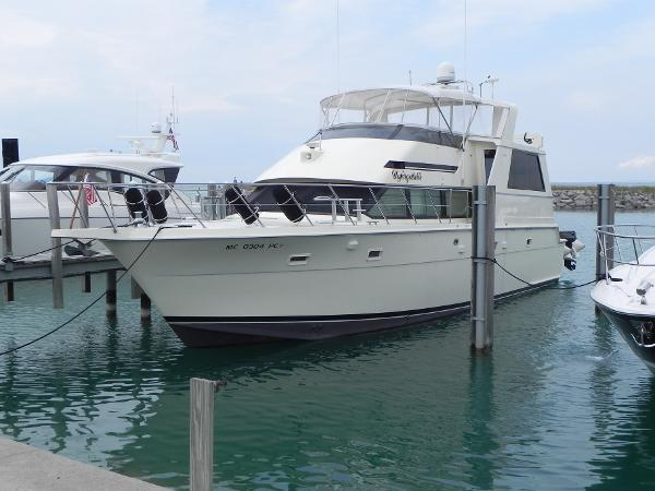 Hatteras 52 Cockpit Motor Yacht Port side