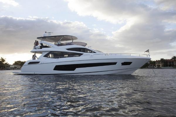 Sunseeker 75 Yacht Manufacturer Provided Image: Sunseeker 75 Yacht Side Profile