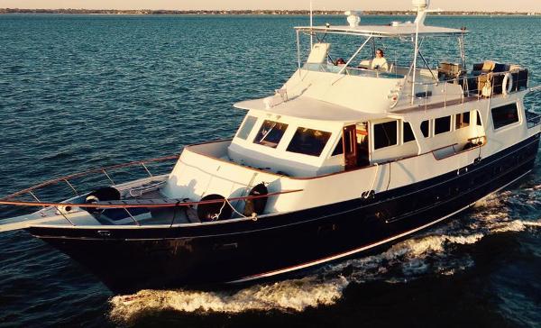 Custom Med Yacht Angel Custom Med Yacht Exterior Shot Underway