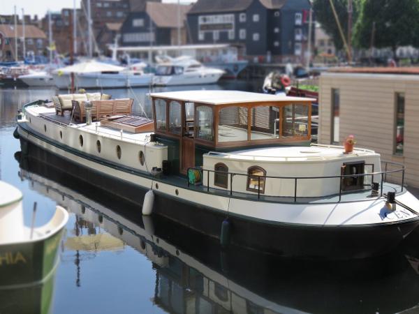 Barge Dutch Barge Luxemotor UK Dutch Barge Luxemotor style  Houseboat liveaboard kent.