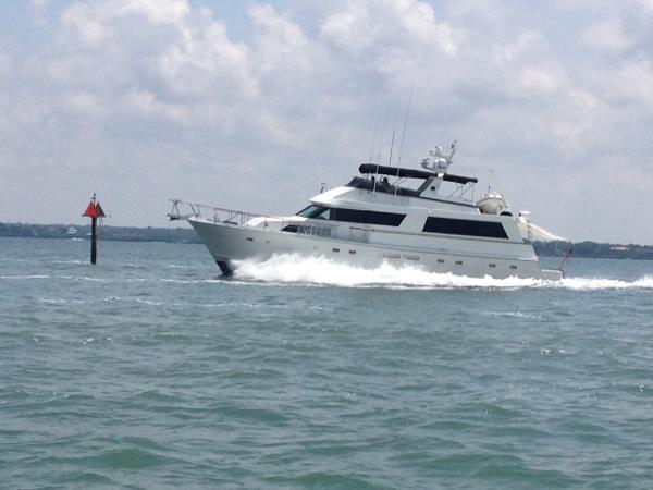 Hatteras Cockpit Motoryacht Running Profile