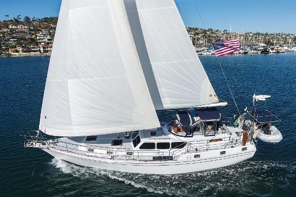 Gulfstar 47 Sailmaster Under Sail- Port Side
