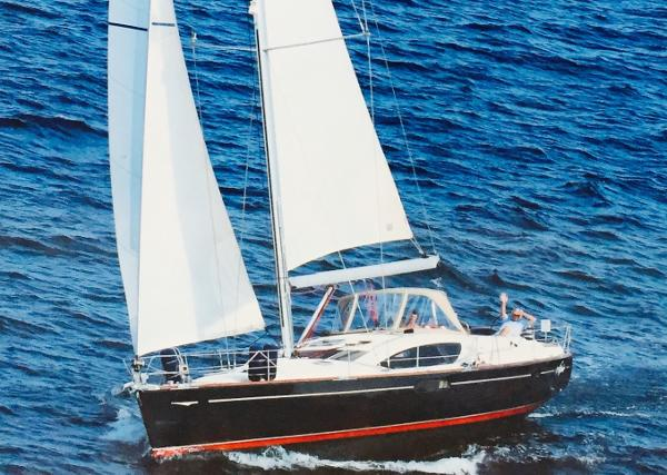 Jeanneau 50 Deck Salon Yacht Under Sail