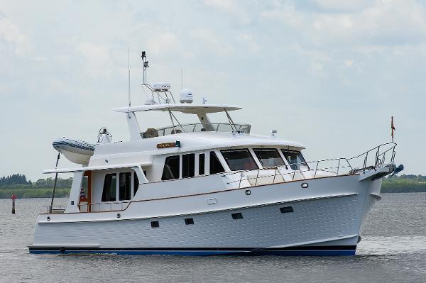 Grand Banks 59 Aleutian RP Profile, Starboard Bow