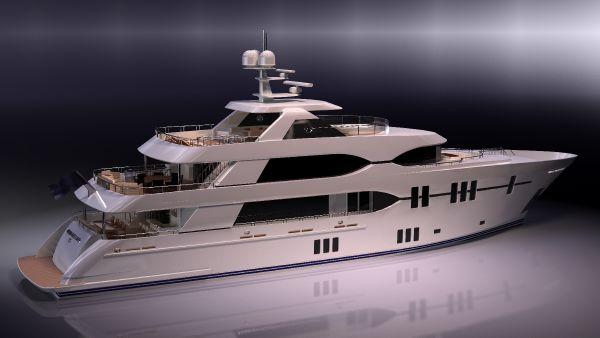 Ocean Alexander Motor Yacht Aft view