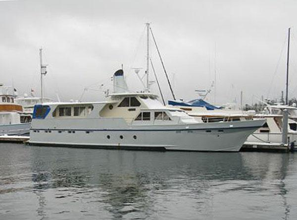 Custom Steel Monk Pilothouse Dockside View 1