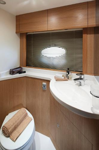 Princess V45 Twin Cabin Bathroom