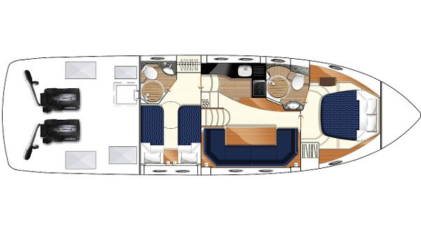 Princess V45 Lower Accommodation Layout