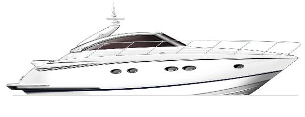 Princess V45 Profile White Hull