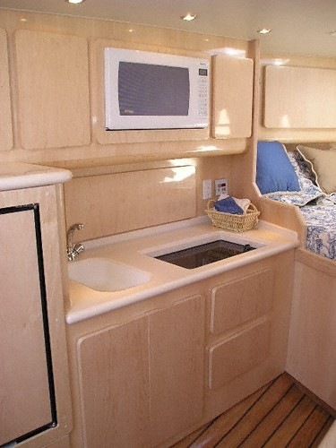 Port cabin, MAPLE,  with fully complimented Galley