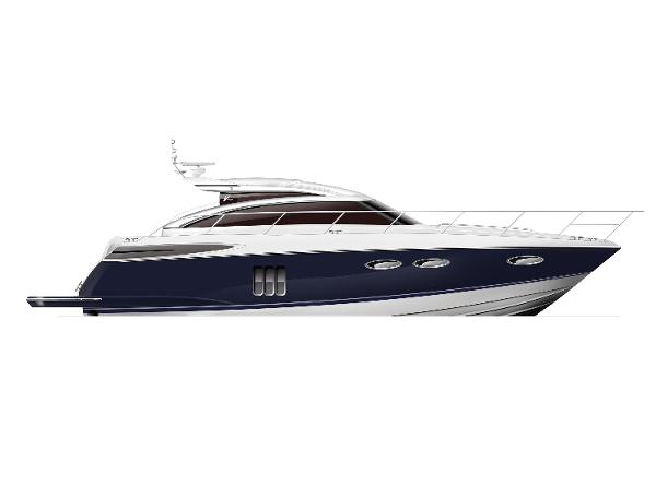 Princess V52 Profile Blue Hull