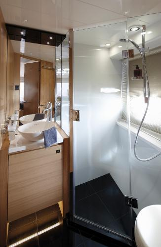 Princess V57 Forward Cabin Bathroom