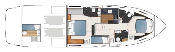 Princess V57 Lower Accommodation Layout