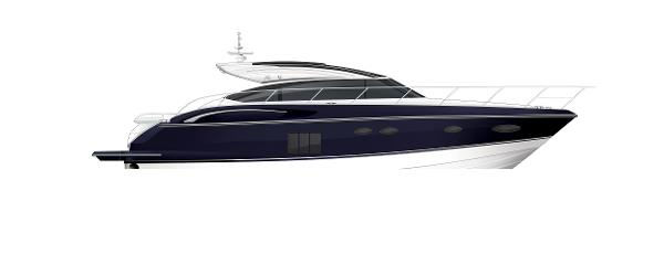 Princess V57 Profile Blue Hull