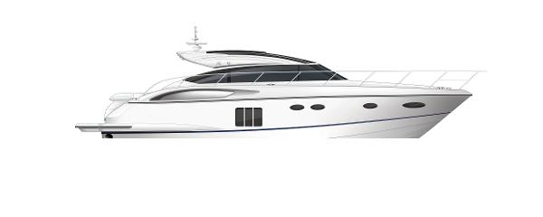 Princess V57 Profile White Hull