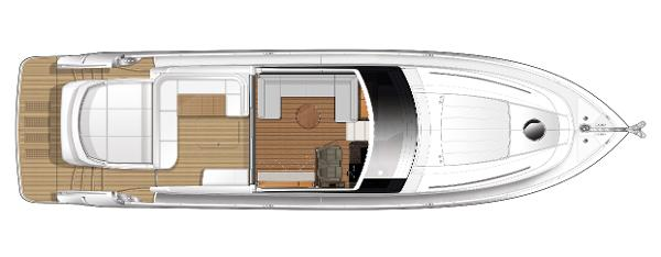 Princess V62-S Main Deck Layout