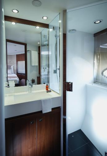 Princess V62-S Forward Cabin Bathroom