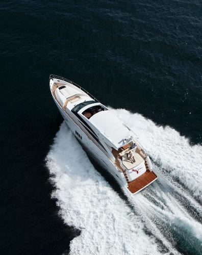 Princess V72 View From Above
