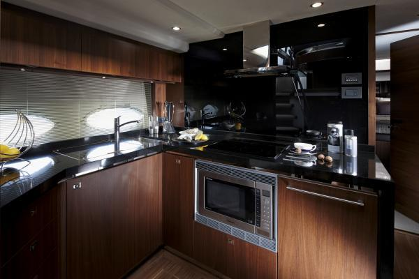 Princess V72 Galley