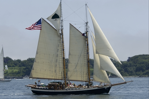 1991 Covey Island Schooner Gaff Rigged Schooner Boston
