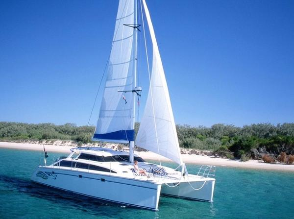 Perry 43 Sailing Catamaran Sleek clean lines