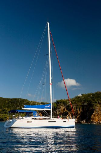 Sunsail 53 moored