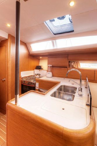 Sunsail 53 galley