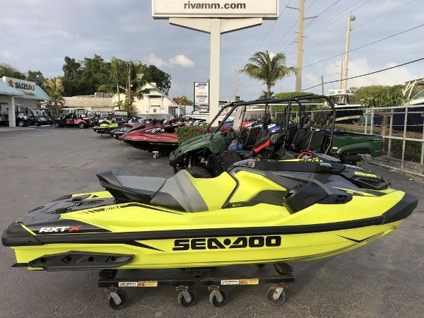 Sea-Doo RXT®-X® 300 IBR & Sound System Neon Yellow and Lava Grey