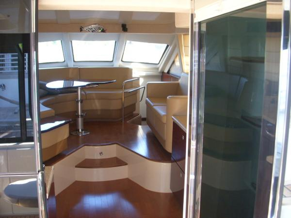 Cockpit- Looking into Galley, Salon, Dinnette