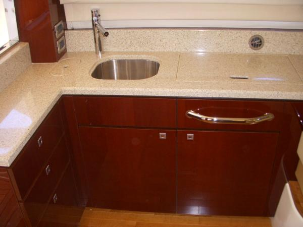 Galley- Counter Tops, Cabinets, Sink, Stove
