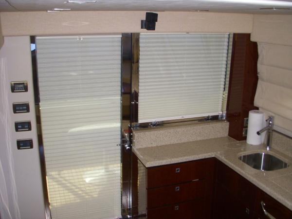 Galley- w/window, door, and blinds shut